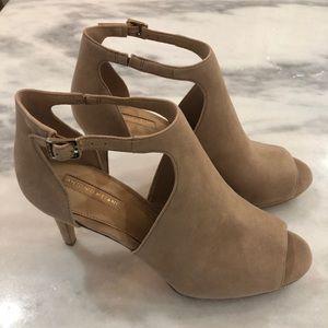 Antonio Melani suede platform heels sz 10m new